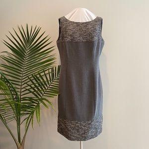 Tahari Gray Sheath-style Dress / 10